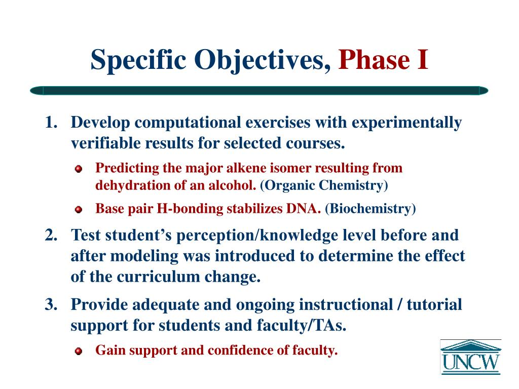Specific Objectives,