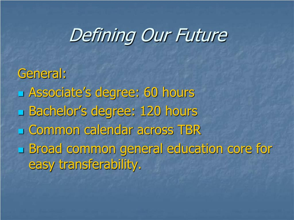 Defining Our Future