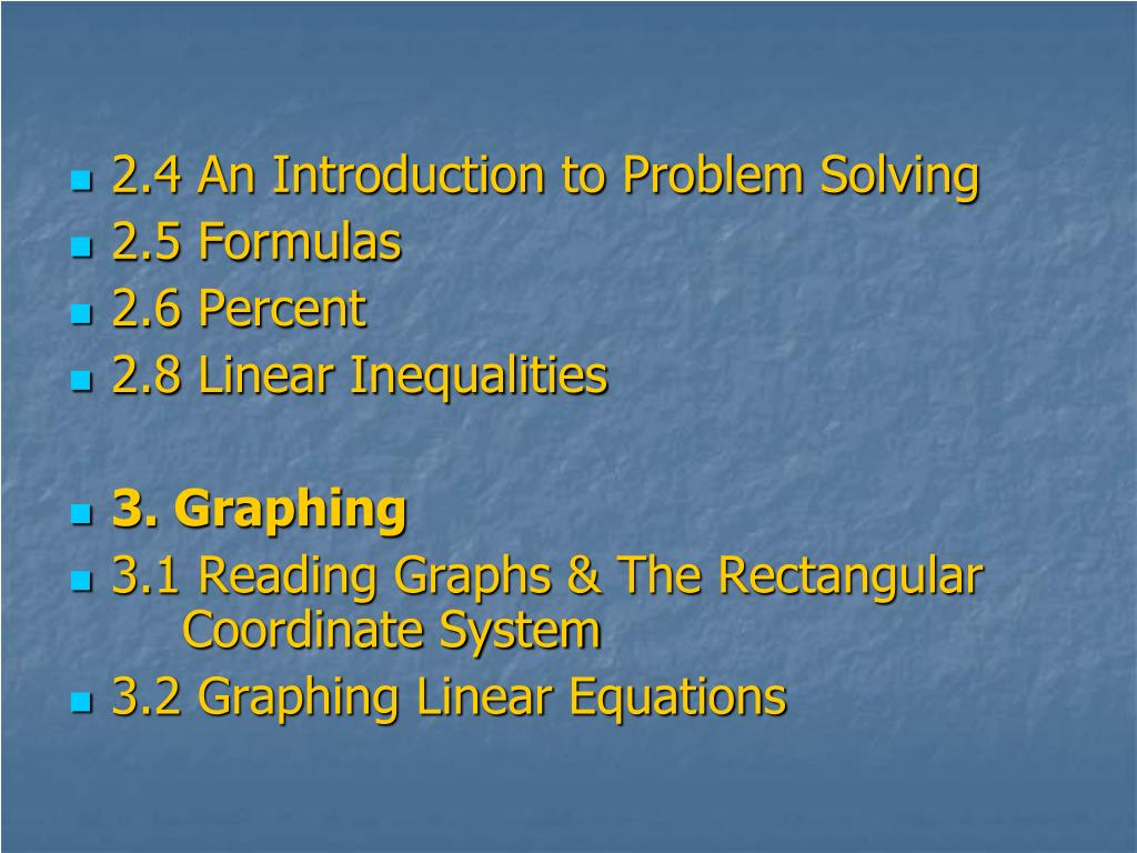 2.4 An Introduction to Problem Solving