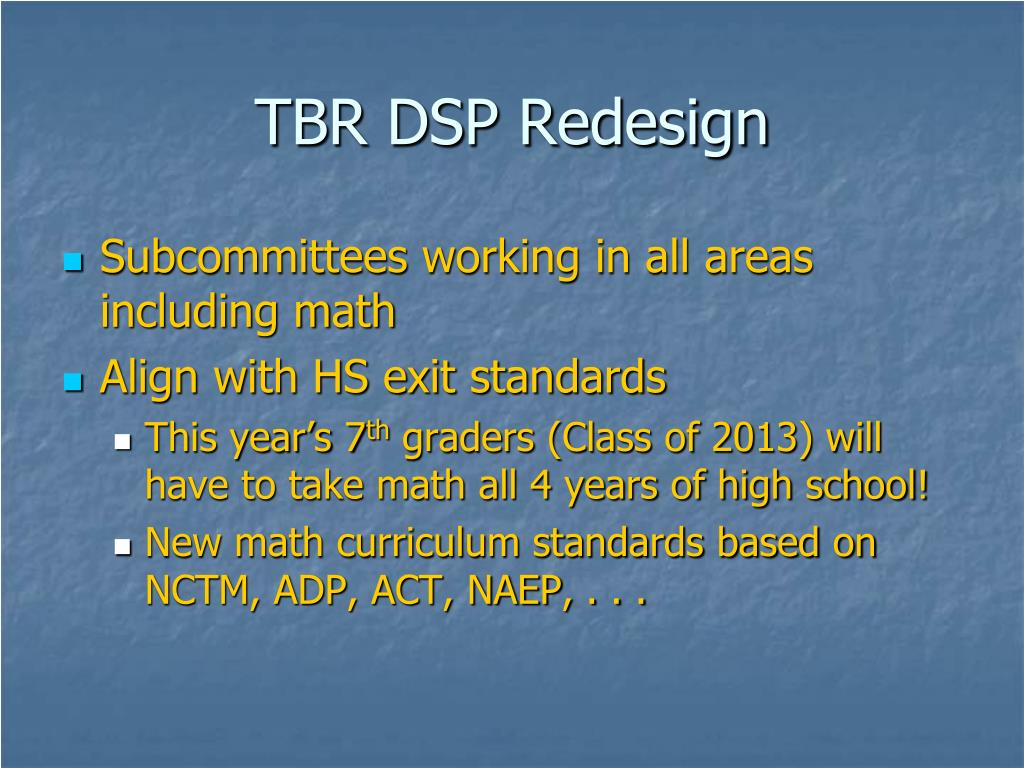 TBR DSP Redesign