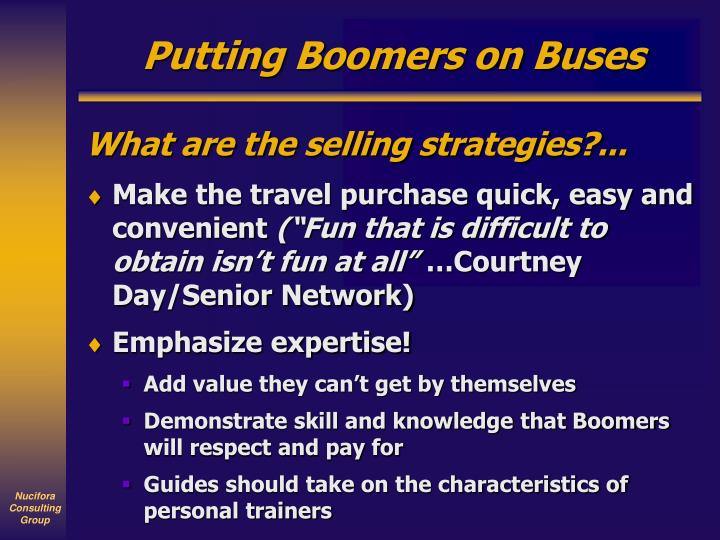 Putting Boomers on Buses