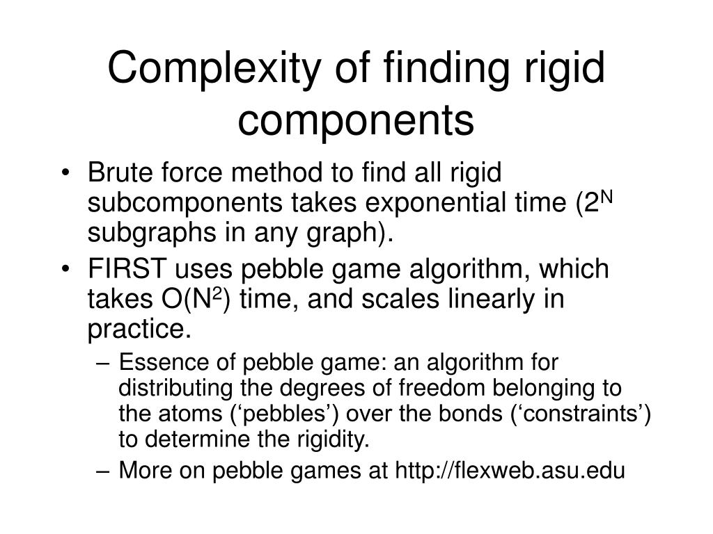 Complexity of finding rigid components