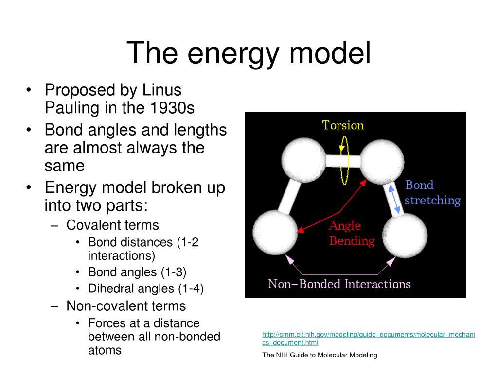 The energy model