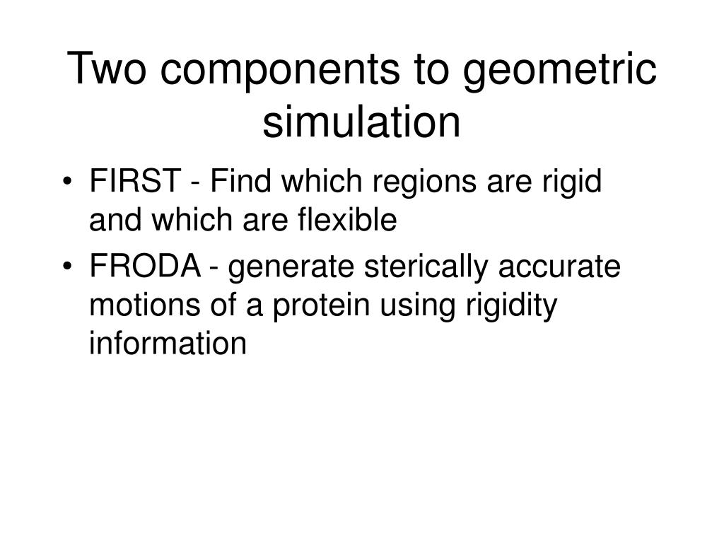 Two components to geometric simulation