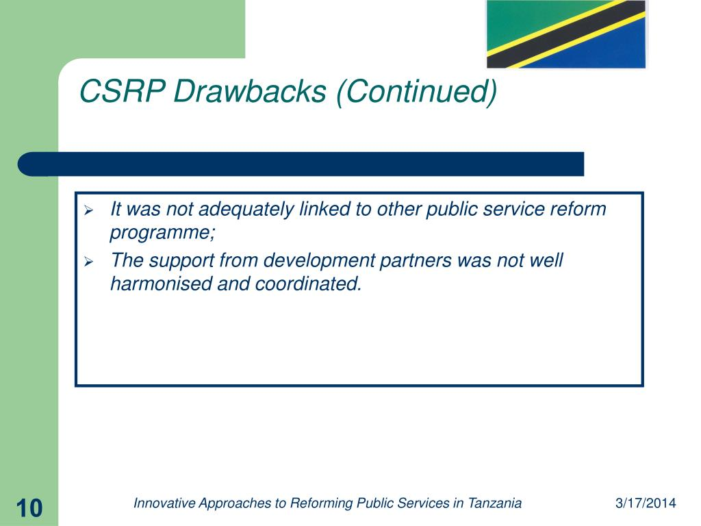CSRP Drawbacks (Continued)