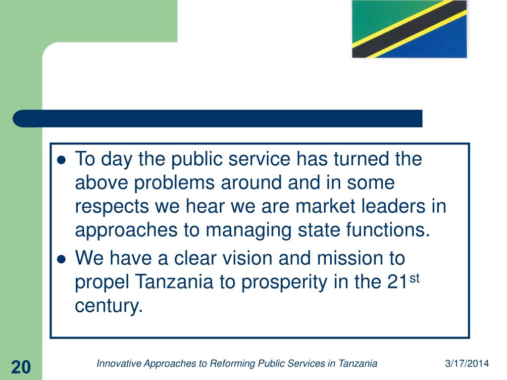 To day the public service has turned the above problems around and in some respects we hear we are market leaders in approaches to managing state functions.