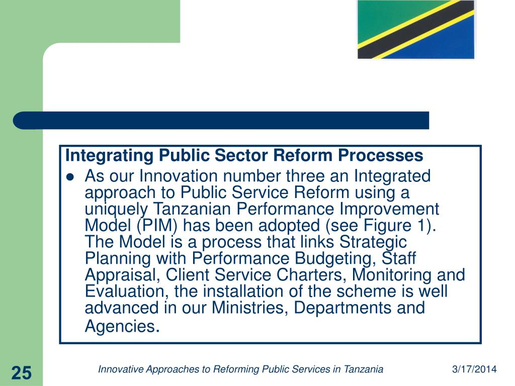 Integrating Public Sector Reform Processes