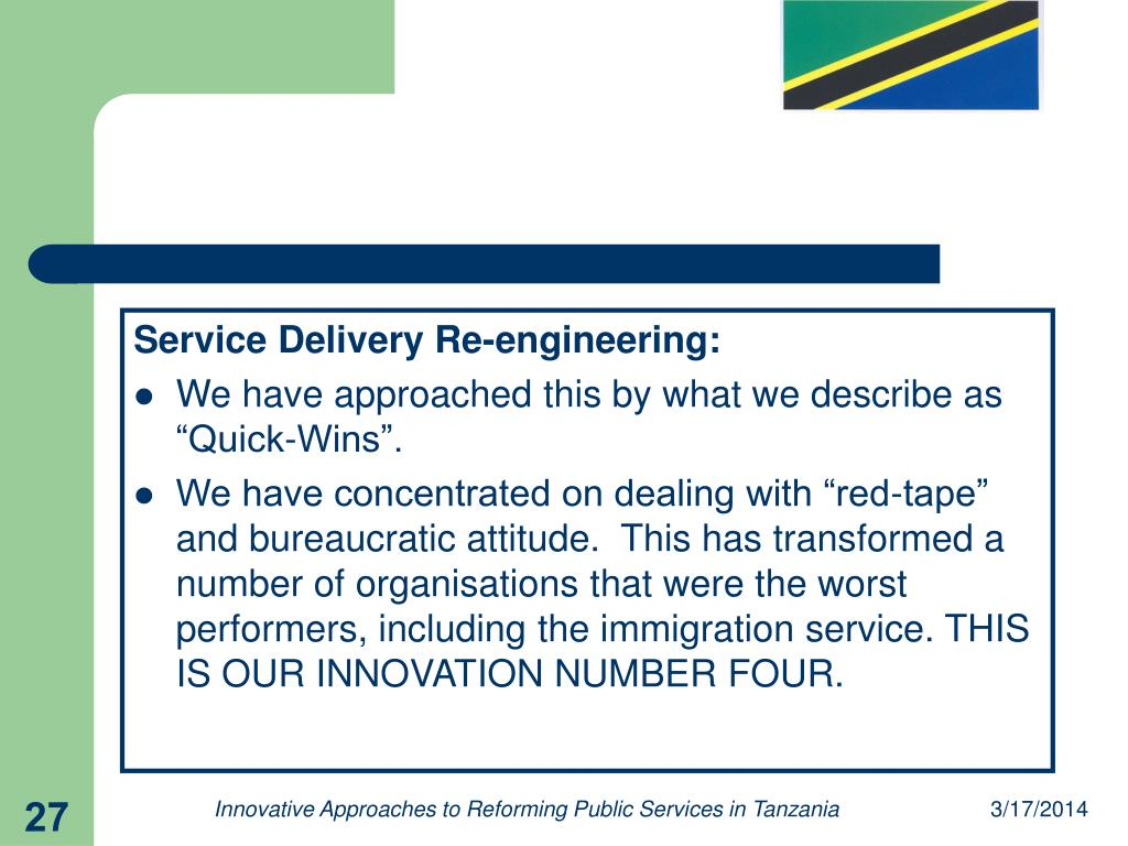 Service Delivery Re-engineering: