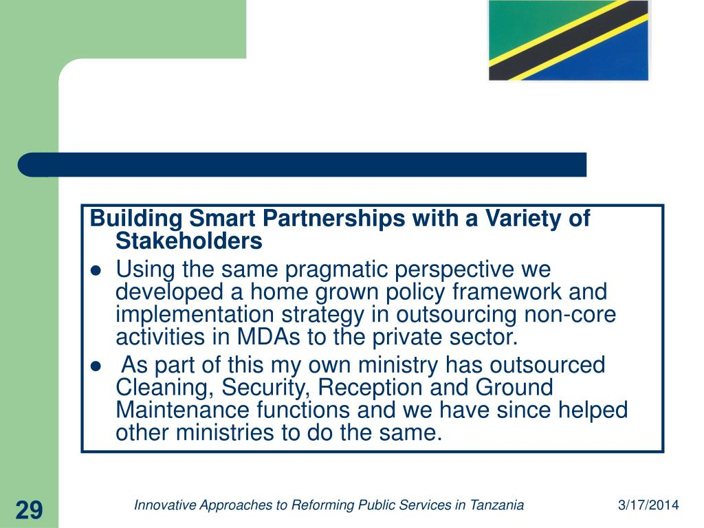 Building Smart Partnerships with a Variety of Stakeholders