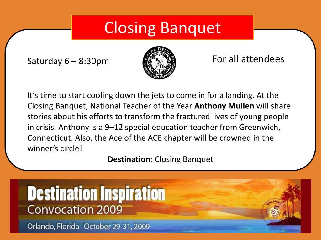 Closing Banquet