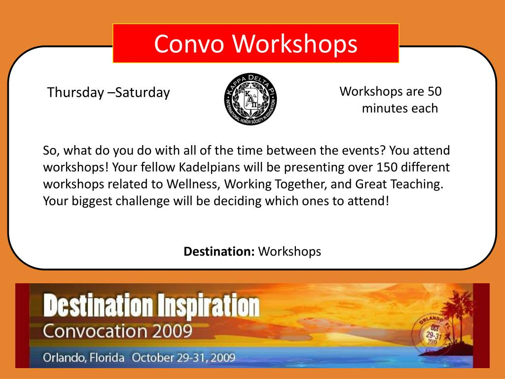 Convo Workshops