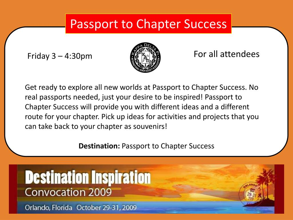 Passport to Chapter Success
