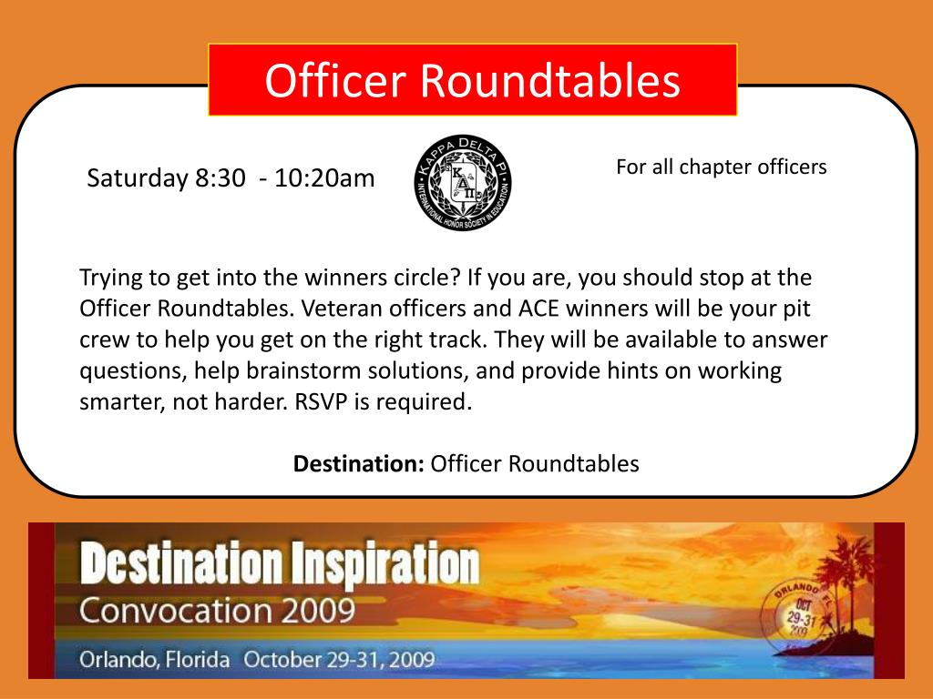 Officer Roundtables