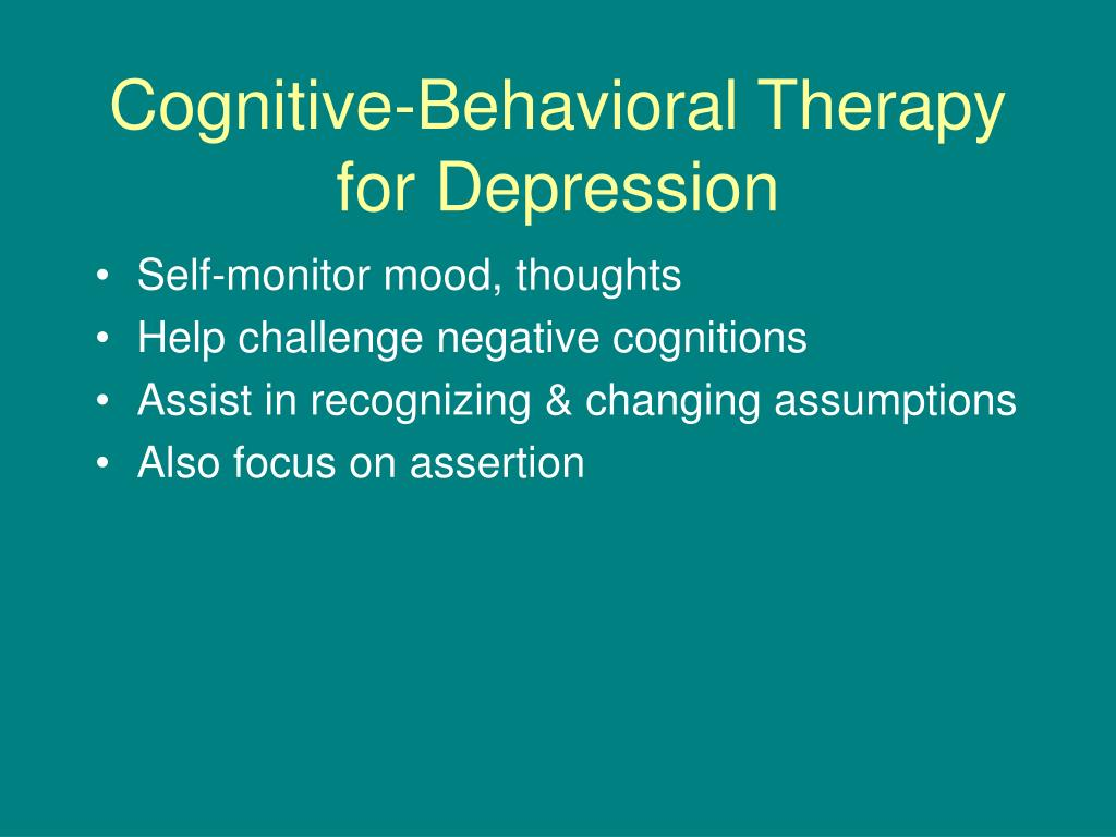 Cognitive-Behavioral Therapy for Depression