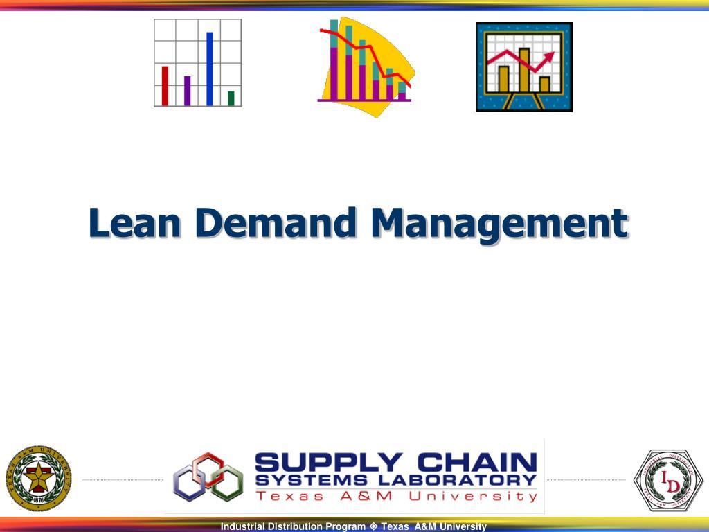 Lean Demand Management