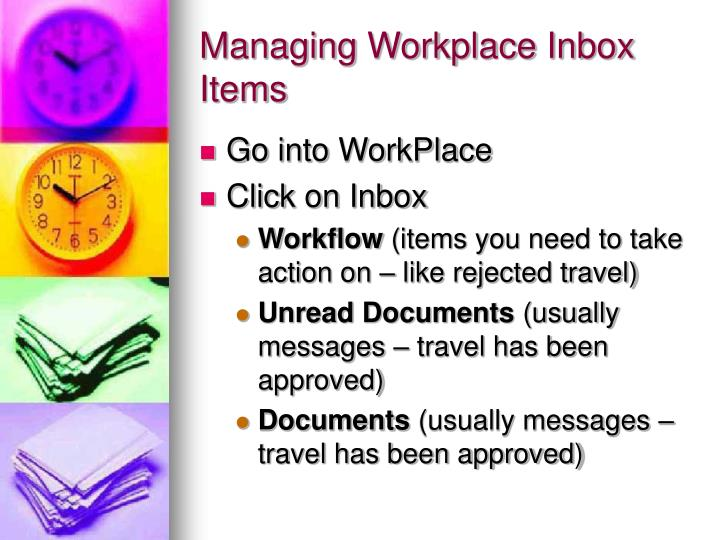 Managing Workplace Inbox Items