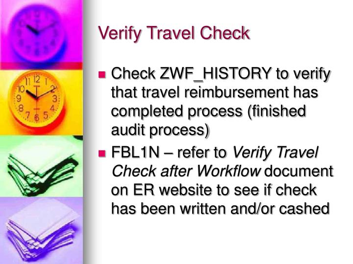 Verify Travel Check