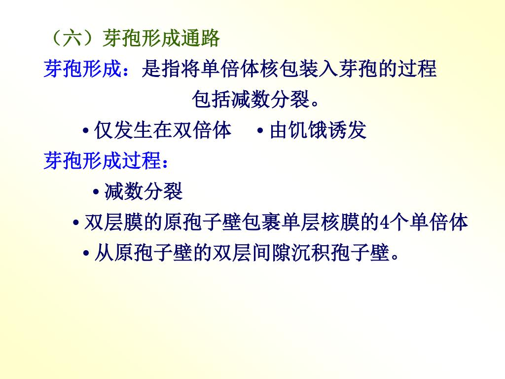 (六)芽孢形成通路