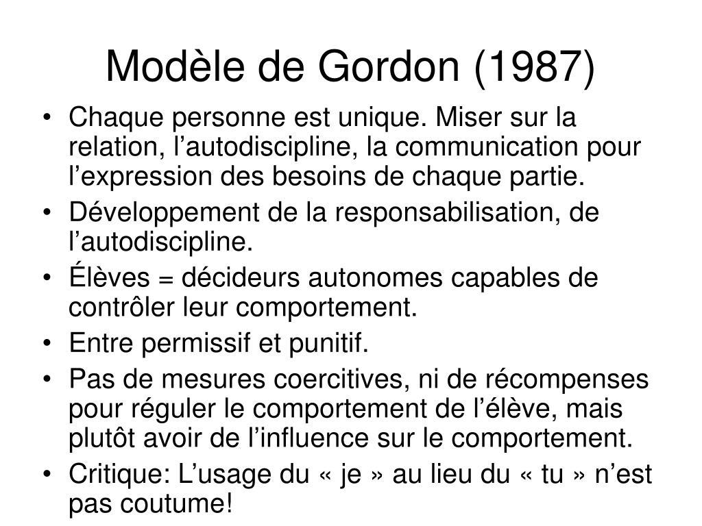 Modèle de Gordon (1987)