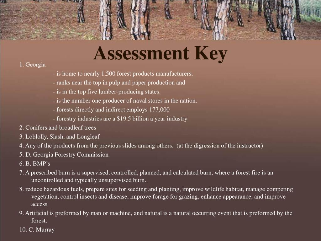 Assessment Key