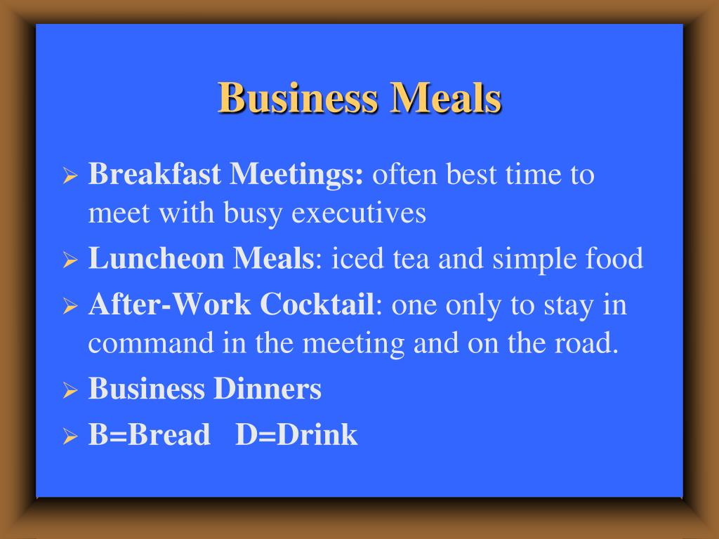 Business Meals