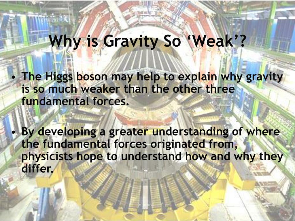 Why is Gravity So 'Weak'?