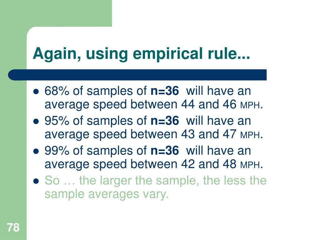 Again, using empirical rule...