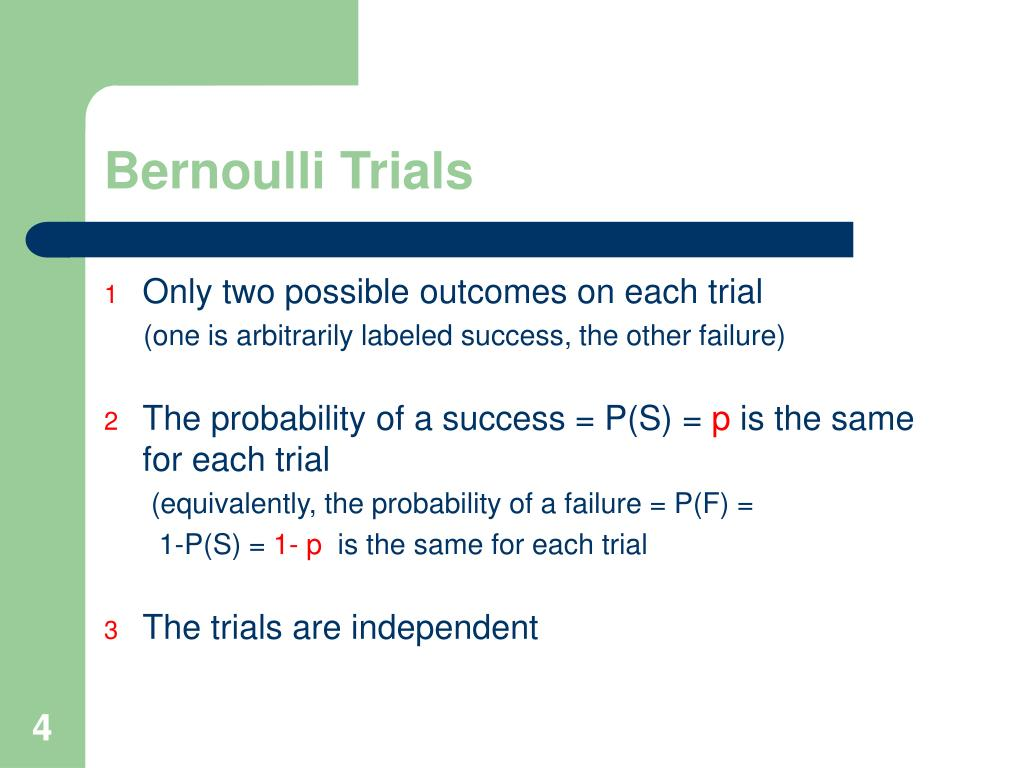 Bernoulli Trials