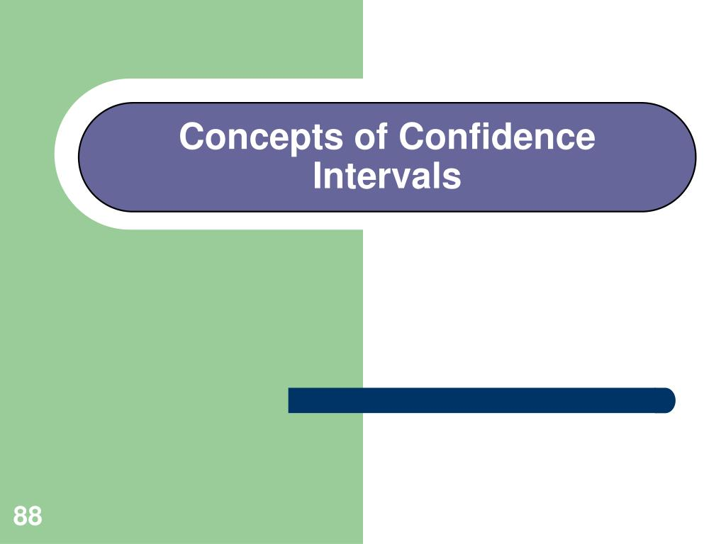 Concepts of Confidence Intervals