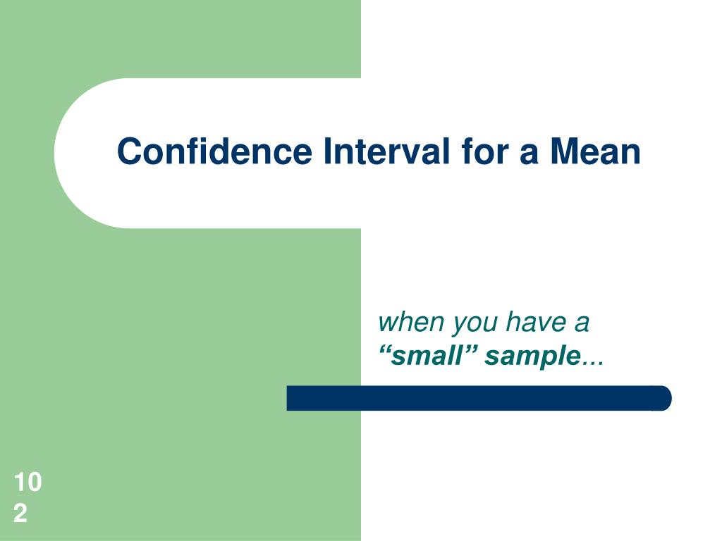 Confidence Interval for a Mean