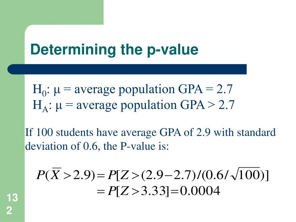 Determining the p-value
