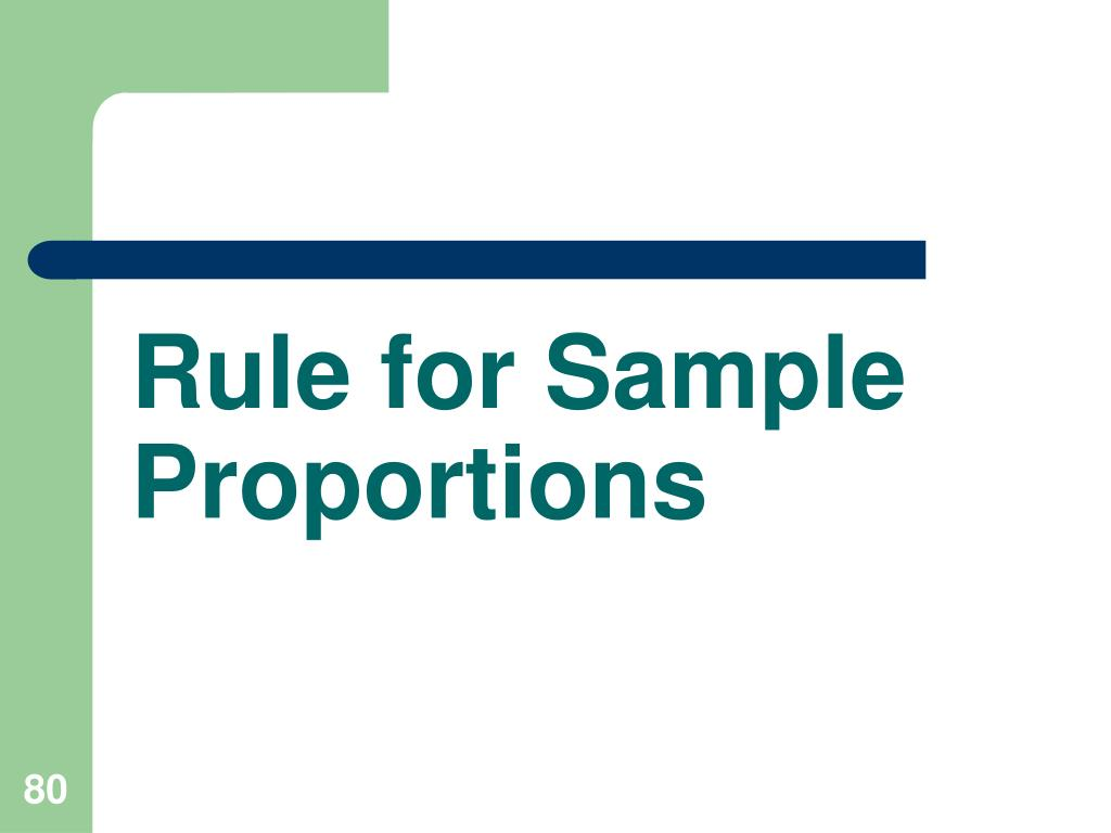 Rule for Sample Proportions