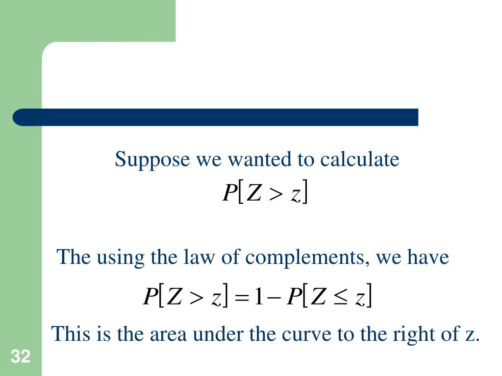 Suppose we wanted to calculate