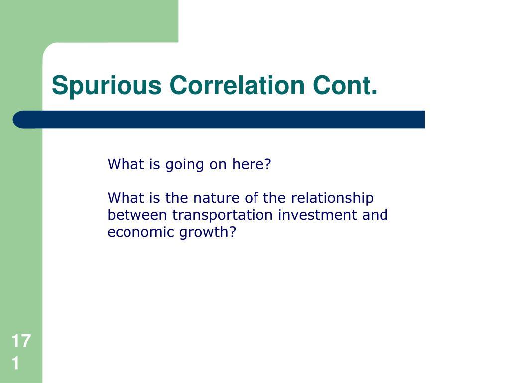 Spurious Correlation Cont.