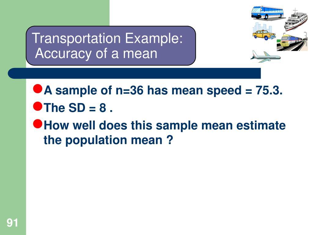 Transportation Example: