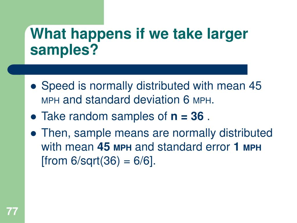 What happens if we take larger samples?