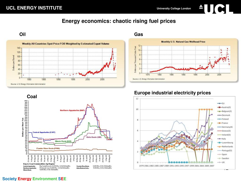 Energy economics: chaotic rising fuel prices