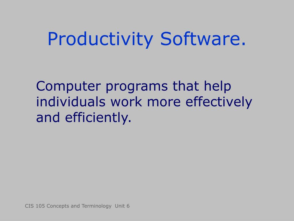 Productivity Software.