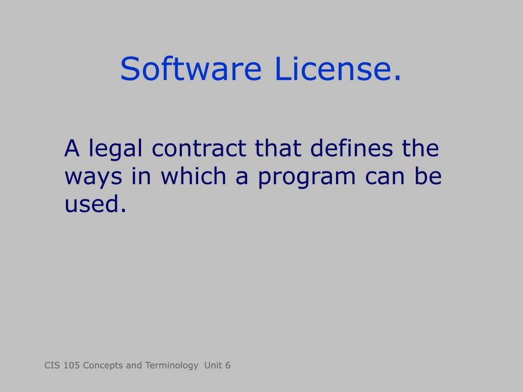Software License.