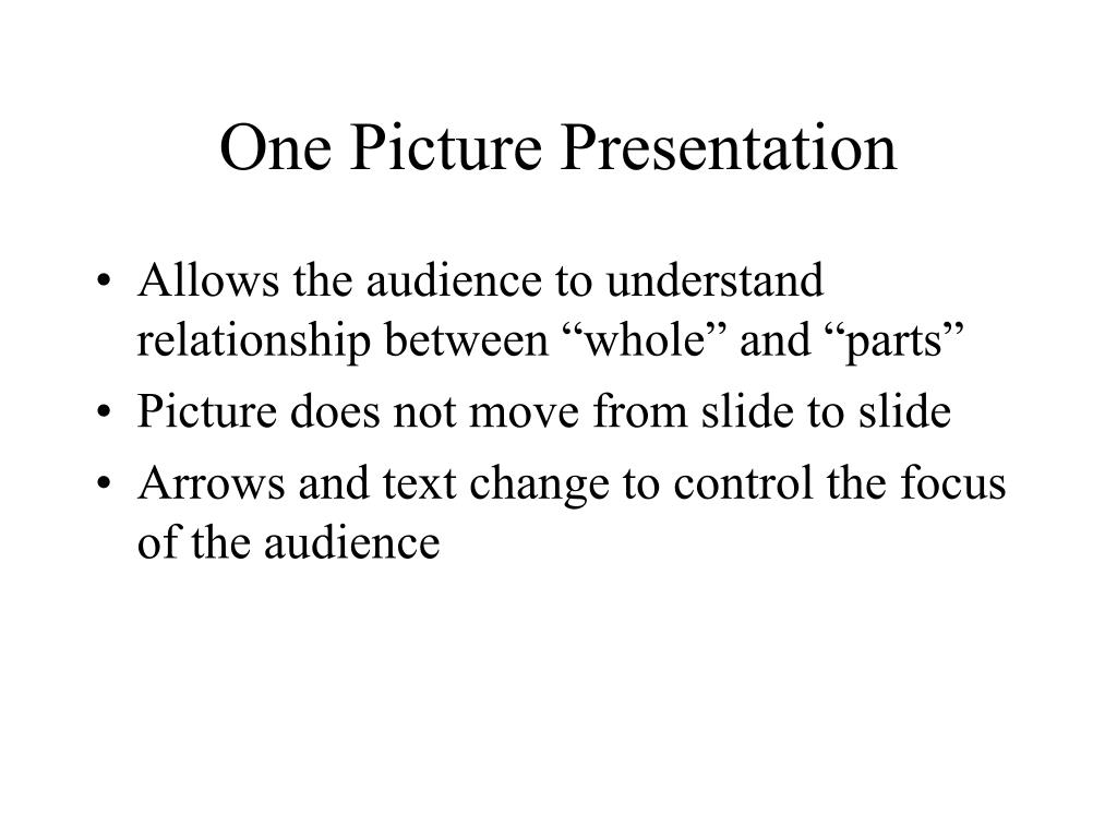 One Picture Presentation