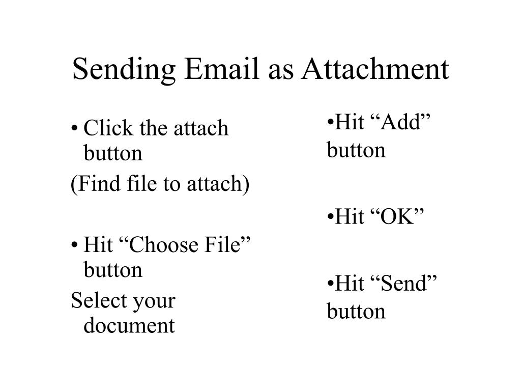 Sending Email as Attachment