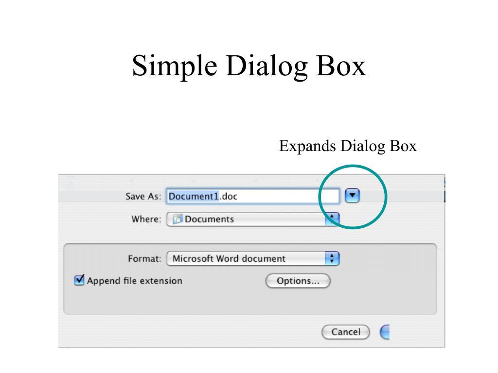 Simple Dialog Box