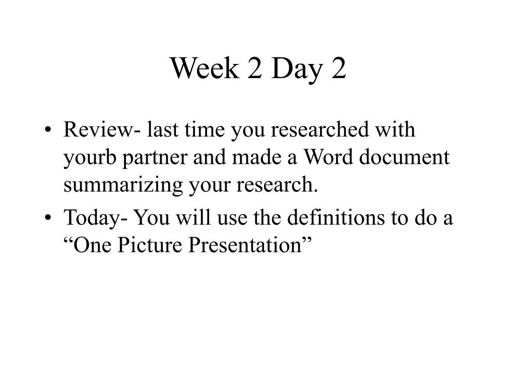 Week 2 Day 2