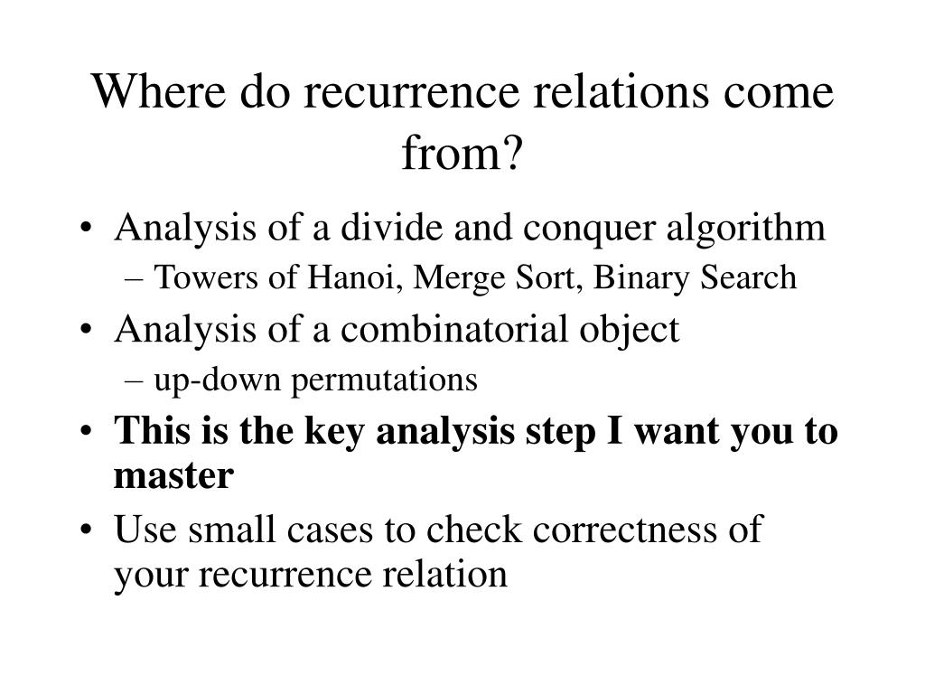 Where do recurrence relations come from?