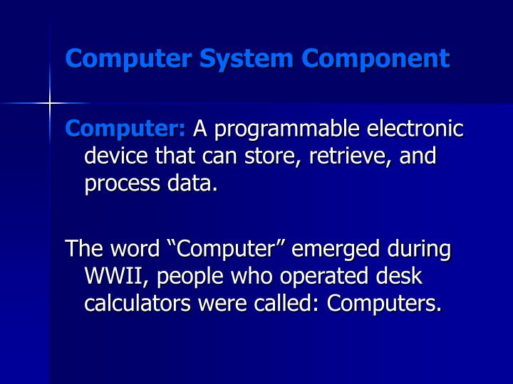 Computer system component