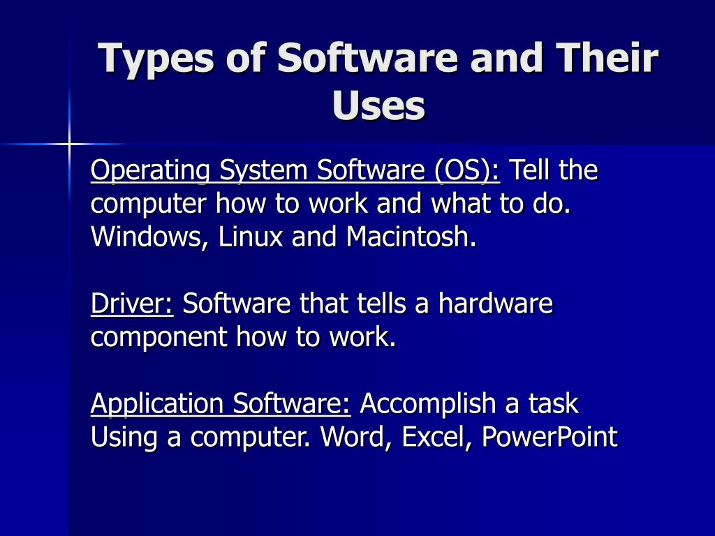 Types of Software and Their Uses