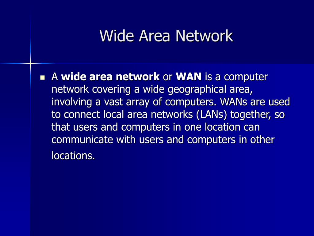 Wide Area Network