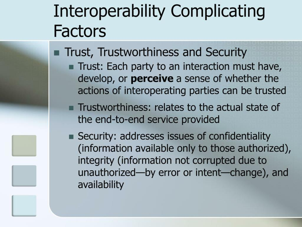 Interoperability Complicating Factors