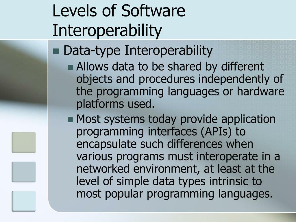 Levels of Software Interoperability