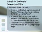 levels of software interoperability12